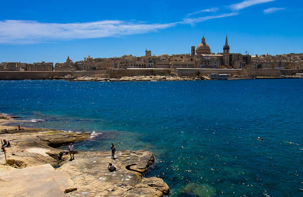 Tigne Point Sliema Beach