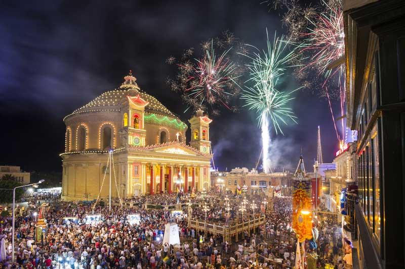 Mosta Festa and Fireworks