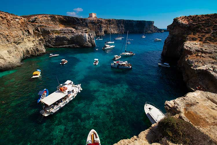 Crystal Lagoon, Comino Malta